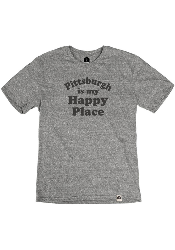 Pittsburgh Grey Happy Place Short Sleeve T Shirt - Image 1