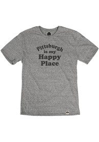 Pittsburgh Grey Happy Place Short Sleeve T Shirt