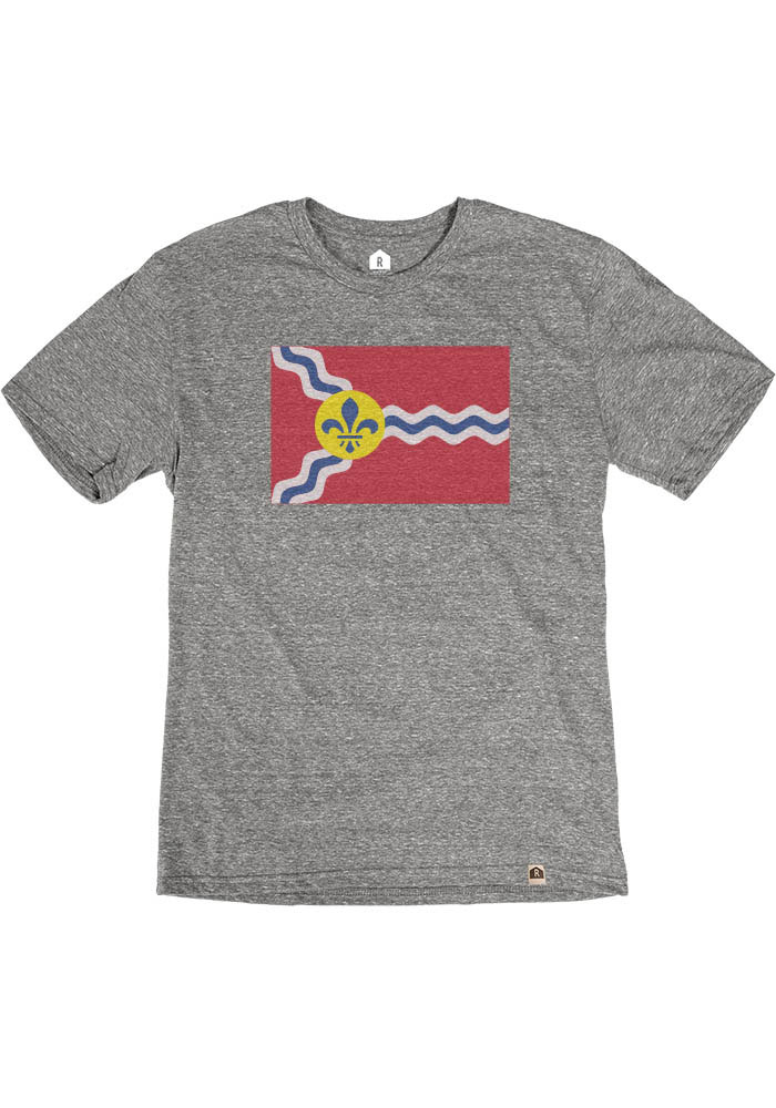 St Louis Grey Flag Short Sleeve Fashion T Shirt - Image 1