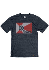Wichita Navy Native Flag Short Sleeve T Shirt