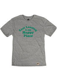 East Lansing Grey Happy Place Short Sleeve T Shirt