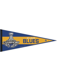 St Louis Blues 2019 Stanley Cup Champs 12x30 Classic Pennant