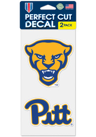 Pitt Panthers 4x4 inch 2 Pack Auto Decal - Blue