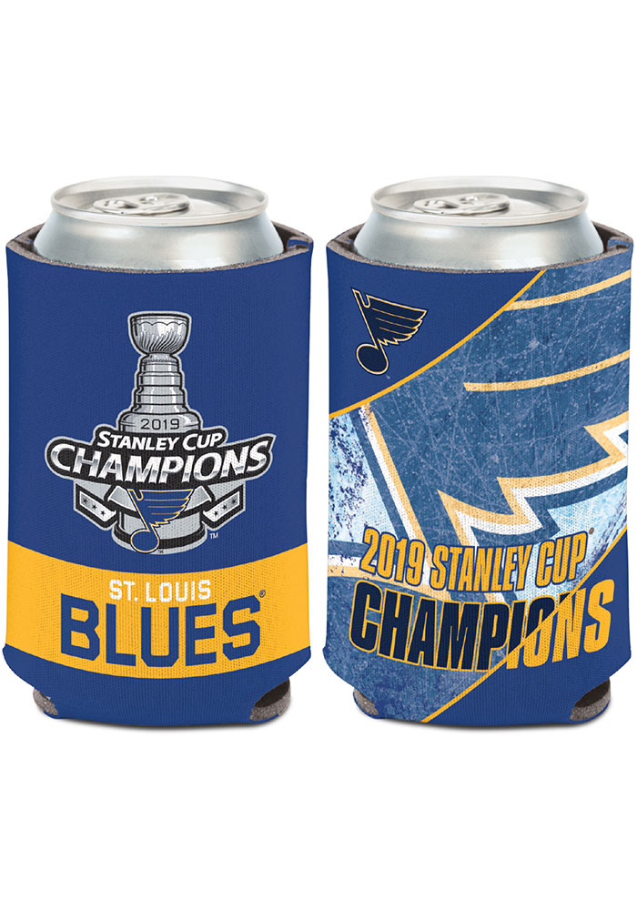 St Louis Blues 2019 Stanley Cup Champs 2-Sided Can Koozie - Image 1