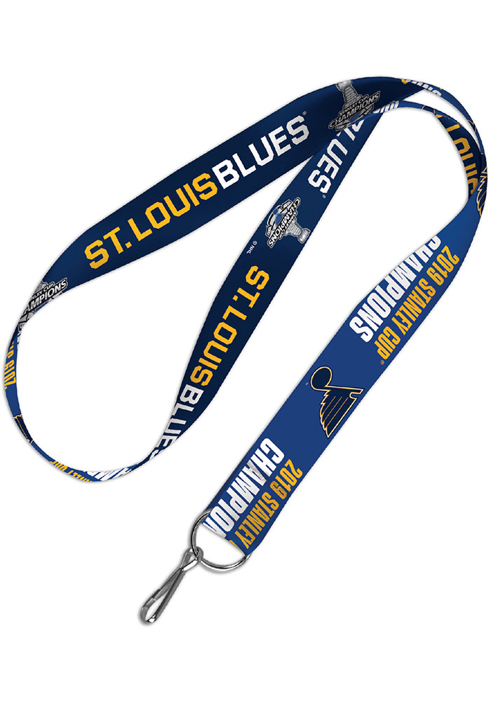 St Louis Blues 2019 Stanley Cup Champs 2-Sided 1 Inch Lanyard - Image 1