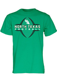 North Texas Mean Green Football Schedule T Shirt - Kelly Green