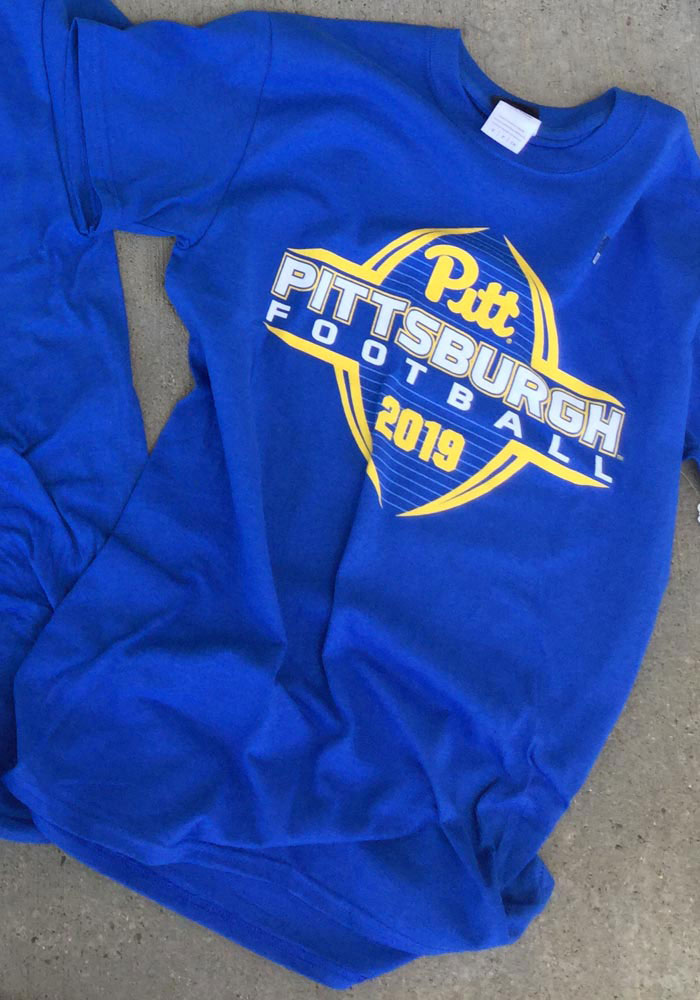 Pitt Panthers Blue Football Schedule Short Sleeve T Shirt - Image 4