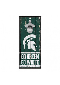 Michigan State Spartans 5X11 Bottle Opener Sign