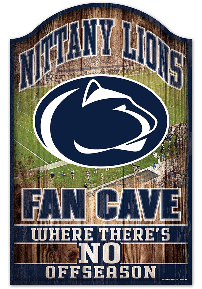 Penn State Nittany Lions 11x17 Fan Cave Sign - Image 1