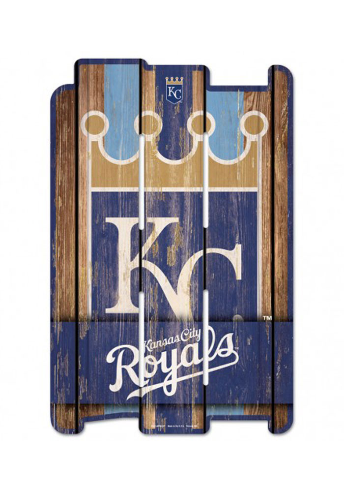 Kansas City Royals 11x17 Vertical Plank Sign