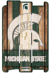 Michigan State Spartans 11x17 Vertical Plank Sign