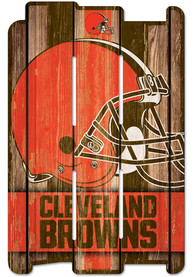 Cleveland Browns 11x17 Vertical Plank Sign