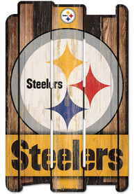 Pittsburgh Steelers 11x17 Vertical Plank Sign