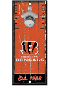 Cincinnati Bengals 5X11 Bottle Opener Sign