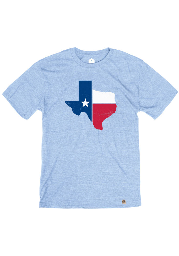 Texas Light Blue State Flag Short Sleeve T Shirt - Image 1