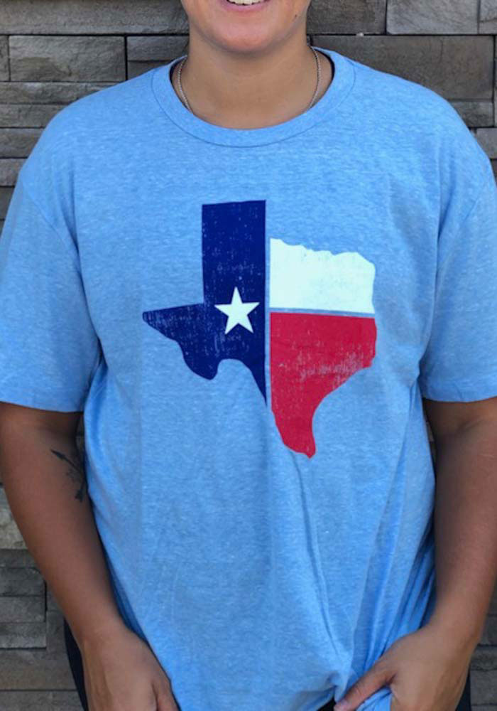 Texas Light Blue State Flag Short Sleeve T Shirt - Image 2