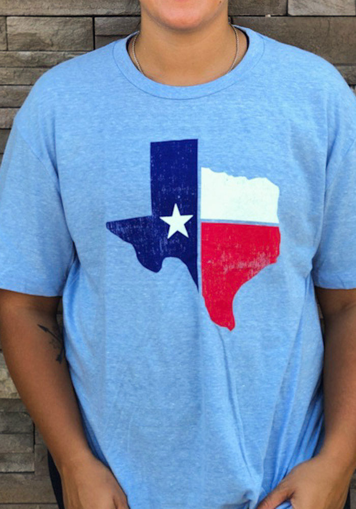 Texas Light Blue State Flag Short Sleeve T Shirt - Image 3