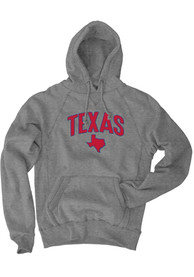 Texas Grey State Long Sleeve Fleece Hood Sweatshirt