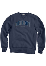 Detroit Wordmark Crew Sweatshirt - Navy Blue