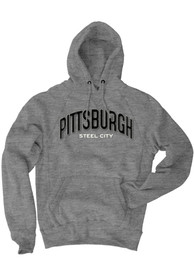 Pittsburgh Grey Steel City Long Sleeve Fleece Hood Sweatshirt