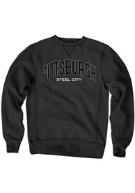 Pittsburgh Wordmark Crew Sweatshirt - Black