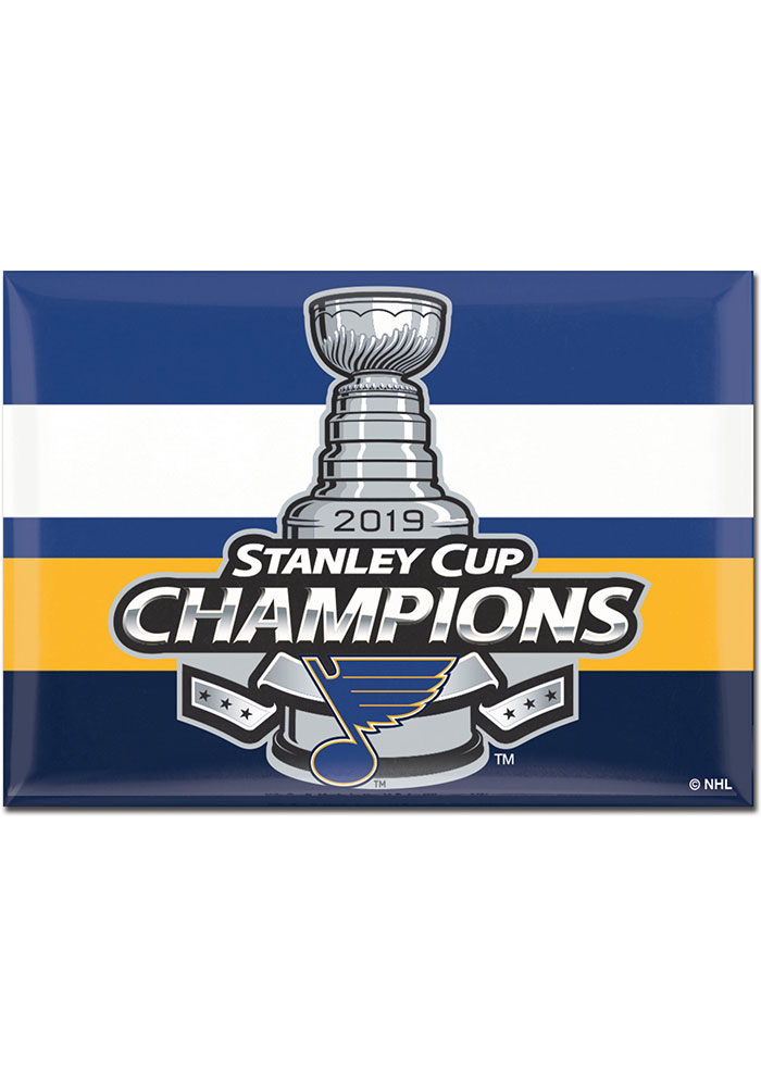 St Louis Blues 2019 Stanley Cup Champs 2.5x 3.5 Inch Magnet - Image 1