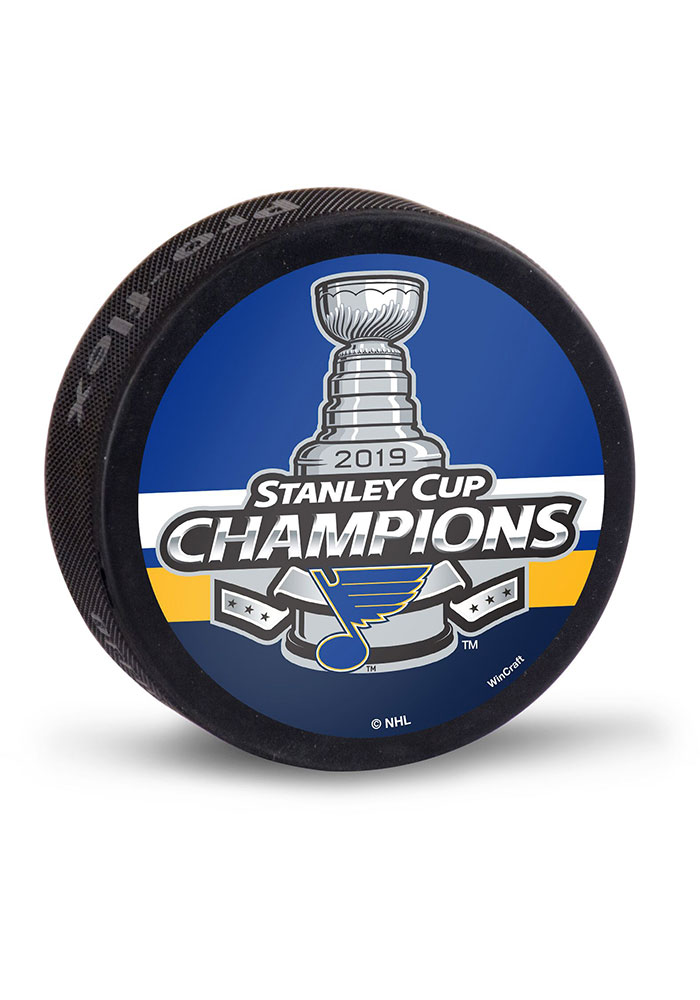 St Louis Blues 2019 Stanley Cup Champs Hockey Puck - Image 1