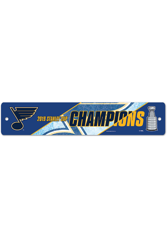 St Louis Blues 2019 Stanley Cup Champs 3.75x19 Street Sign - Image 1