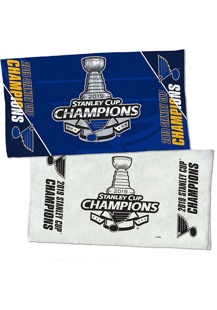 St Louis Blues 2019 Stanley Cup Champs 24x42 2-Sided On Ice Locker Room Towel - Image 1