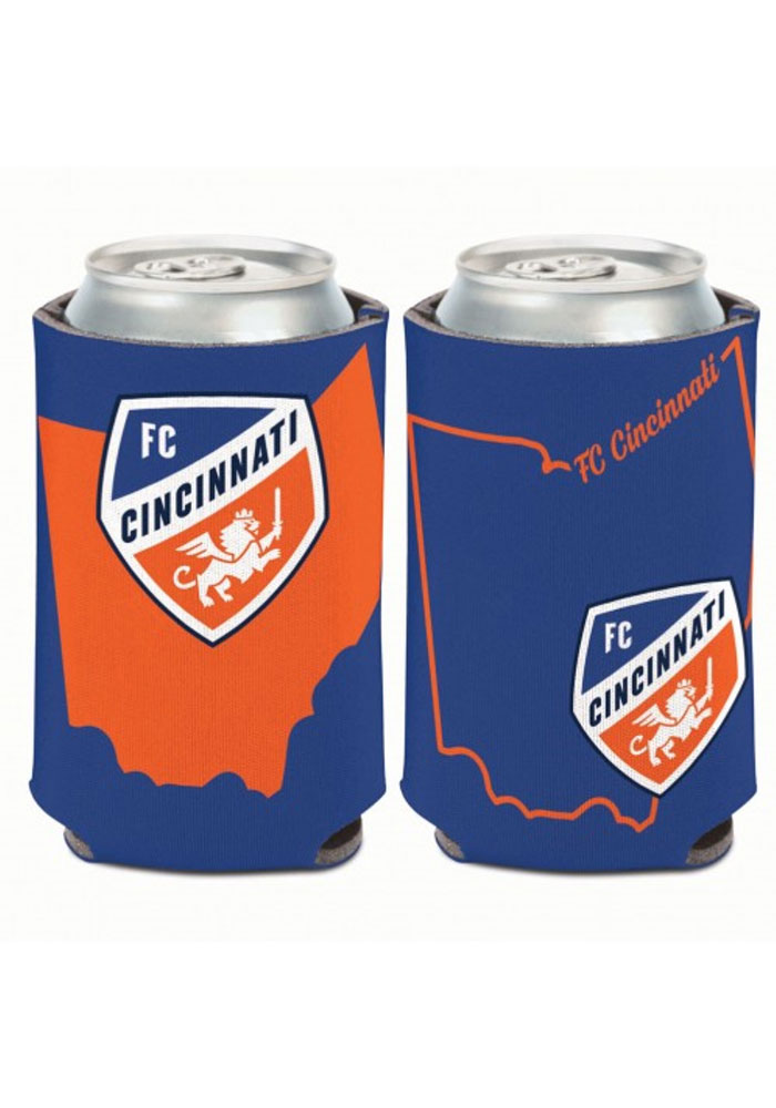FC Cincinnati State Shape 12oz Can Cooler Coolie