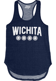 Wichita Womens Grey Four Flowers Tank Top