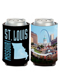 St Louis 12 oz. Can 2-sided Missouri Arch Coolie