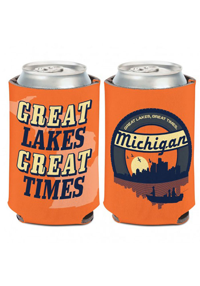 Michigan 12 oz. Can Coolie 2-sided Great Lakes Great Times Coolie - Image 1