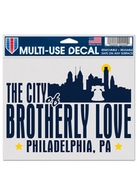 Philadelphia The City of Brotherly Love 5x6 Multi Use Auto Decal - White