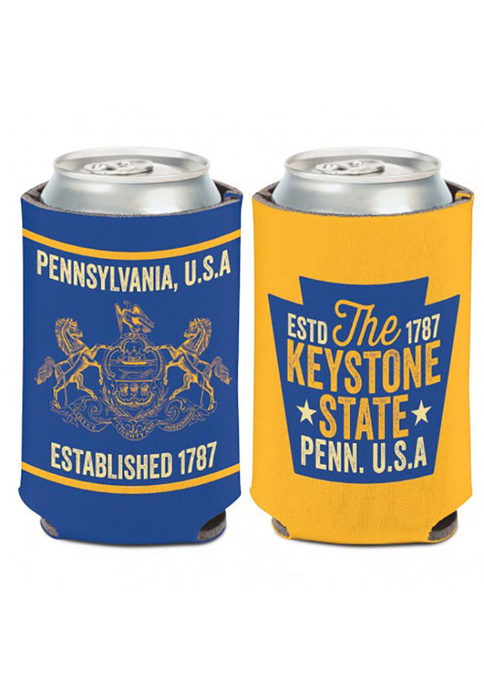 Pennsylvania 12 oz. Can 2 -sided The Keystone State and crest Coolie - Image 1