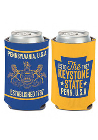 Pennsylvania 12 oz. Can 2 -sided The Keystone State and crest Coolie