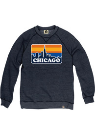 Chicago Skyline Crew Sweatshirt - Navy Blue