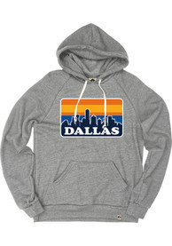 Dallas Grey Skyline Long Sleeve Fleece Hood Sweatshirt