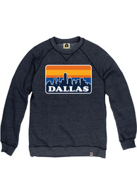 Dallas Ft Worth Skyline Crew Sweatshirt - Navy Blue