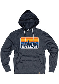 Dallas Navy Skyline Long Sleeve T-Shirt Hood