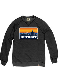 Detroit Skyline Crew Sweatshirt - Black