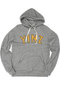 Pittsburgh Grey Yinz Long Sleeve Fleece Hood Sweatshirt