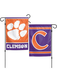 Clemson Tigers 12x18 inch 2-Sided Garden Flag