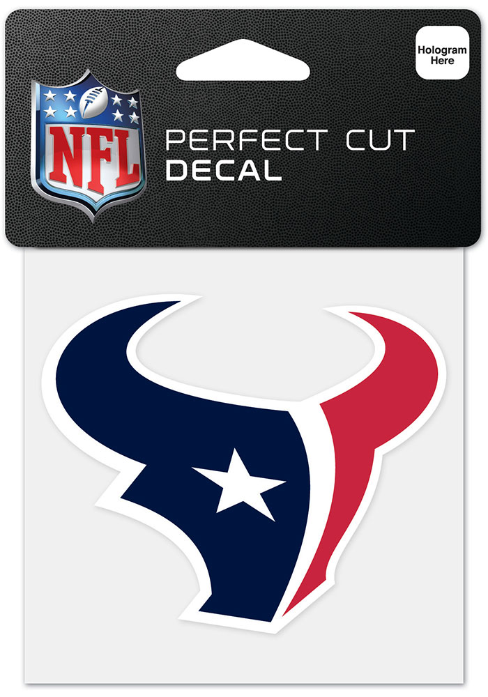 Houston Texans 4x4 inch Perfect Cut Auto Decal -