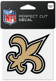 New Orleans Saints 4x4 inch Perfect Cut Auto Decal - Gold