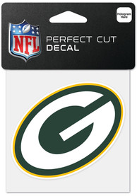 Green Bay Packers 4x4 inch Perfect Cut Auto Decal - Green
