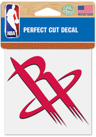 Houston Rockets 4x4 inch Perfect Cut Auto Decal - Red