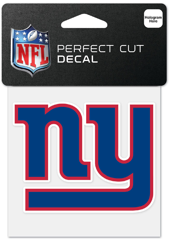 New York Giants 4x4 inch Perfect Cut Auto Decal - Blue - Image 1
