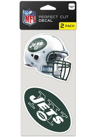 New York Jets 4x4 Perfect Cut Auto Decal - Green
