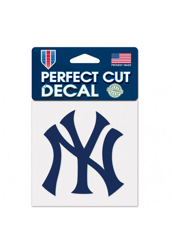 New York Yankees 4x4 inch Perfect Cut Auto Decal - Navy Blue